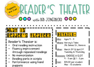 Reader's Theater (Multiple Dates & Times!) @ Harvey's Tales